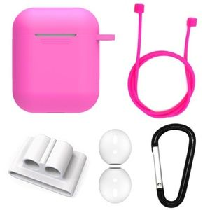 Accessories - NEW 5 in 1 Apple Airpods Silicone Case Set